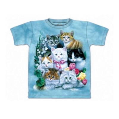 摩達客-美國進口The Mountain 貓兒群純棉環保短袖T恤
