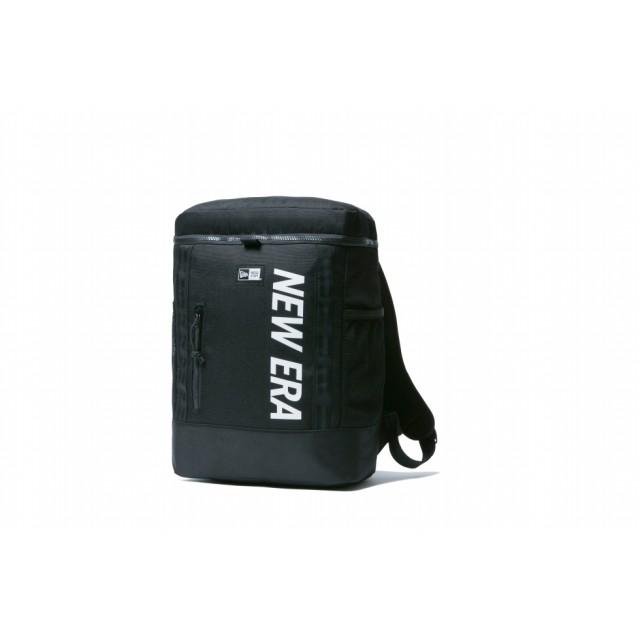 NEW ERA ニューエラ キッズ ボックスパック 15L プリントロゴ ブラック × ホワイト リュック 大容量 PC収納 バッグ バックパック 男の子 女の子 ワンサイズ 11901459 NEWERA