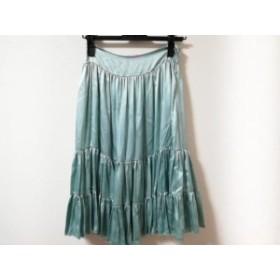 ブルーガールブルマリン BLUGiRL BLUMARINE スカート サイズF レディース 美品 ライトグリーン シルク【中古】20190719
