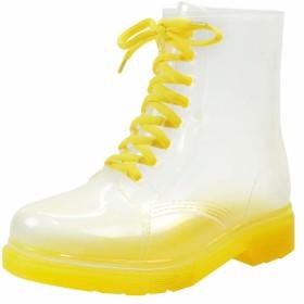 [バーニング ゴー] レディース レインシューズ レインブーツ 透明 ショートブーツ 防水 軽量 長靴 男女兼用 晴雨兼用 滑り止め 梅雨対策 雨の日