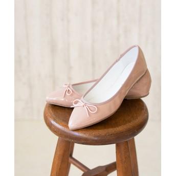 パンプス - Outletshoes ポインテッドトゥ バレエシューズ フラットシューズ 黒 大きいサイズ パンプス カジュアル 痛くない レディース 靴ポインテッド走れるリボン バレエパンプス エナメル 赤 歩きやすい スエード ペタンコ シューズ 靴 シンプル ベーシック オ