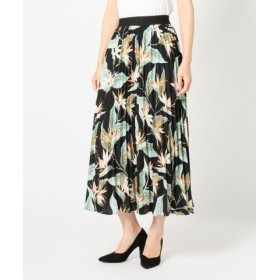 (MEW'S REFINED CLOTHES/ミューズ リファインド クローズ)サマー大花プリーツスカート/レディース クロ