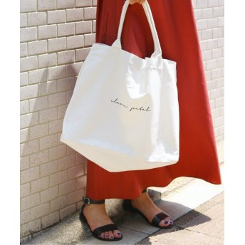 JOINT WORKS 【CLANE PETAL / クラネペタル】 multi tote bag◆ ホワイト フリー