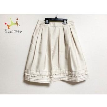 トゥービーシック スカート サイズ38 M レディース 美品 ベージュ スパンコール/ビーズ 新着 20190722