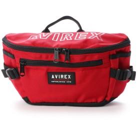 アヴィレックス AVIREX ウエストボディバッグ (red)