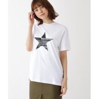(BASE STATION/ベースステーション)スター フロントプリント 半袖 Tシャツ/レディース アイボリー(004)