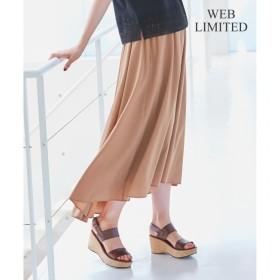 【ジユウク/自由区】 【WEB限定】STRETCH POPLIN スカート