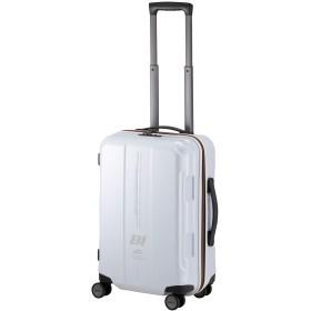 [プラスワン] スーツケース キャリーケース ブラニフ 容量52L 縦サイズ61.5cm 3.4kg 型番 787-56 安心の1年保証付き (カーボンホワイト03)