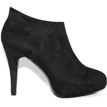 ブーツ - 靴のSOKUSOKO 痛くない レディース 走れる 黒 クッション 大きいサイズ ブーティ ブーツ パンプス アンクルブーツ ハイヒール ブーサンレッドソール 美脚 ラウンドトゥ ブラック スエード ベイシック インストーム ピンヒ パーティー 結婚式 二次会『sk