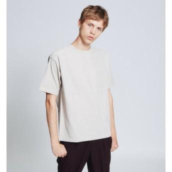 【アバハウス/ABAHOUSE】 布帛コンビ半袖Tシャツ