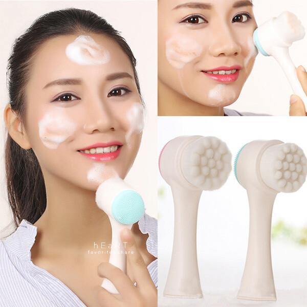 柔軟刷毛矽膠潔面洗臉刷 不挑色