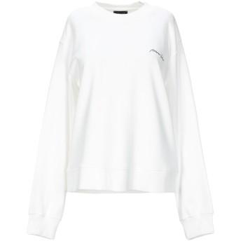 《セール開催中》ARMANI JEANS レディース スウェットシャツ ホワイト 46 コットン 100%