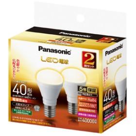 パナソニックLED電球 E17口金 全光束440lm(4.2W小型電球広配光タイプ) 電球色相当 2個入LDA4LGE17K40ESW22T