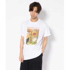 ビーバー MANASTASH/マナスタッシュ 別注Movie Tee 'KERMIT the Frog of music' Tシャツ メンズ WHITE XL 【BEAVER】