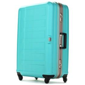 [レジェンドウォーカー] スーツケース フレーム ハードスーツケース 4輪 消音/静音キャスター 5088-55-ブラック 保証付 47L 61 cm 4.1kg グリーン