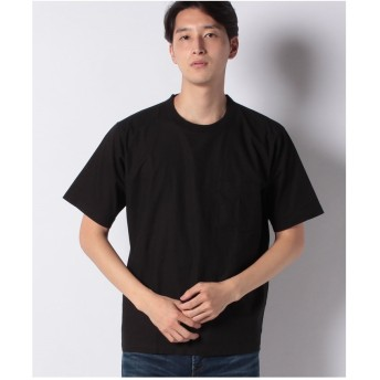 ikka コットンプルオーバーシャツT(ブラック)【返品不可商品】