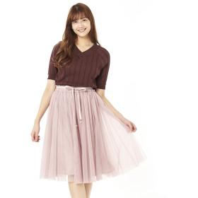 パターン フィオナ PATTERN fiona グログランリボンチュールスカート (ピンク)