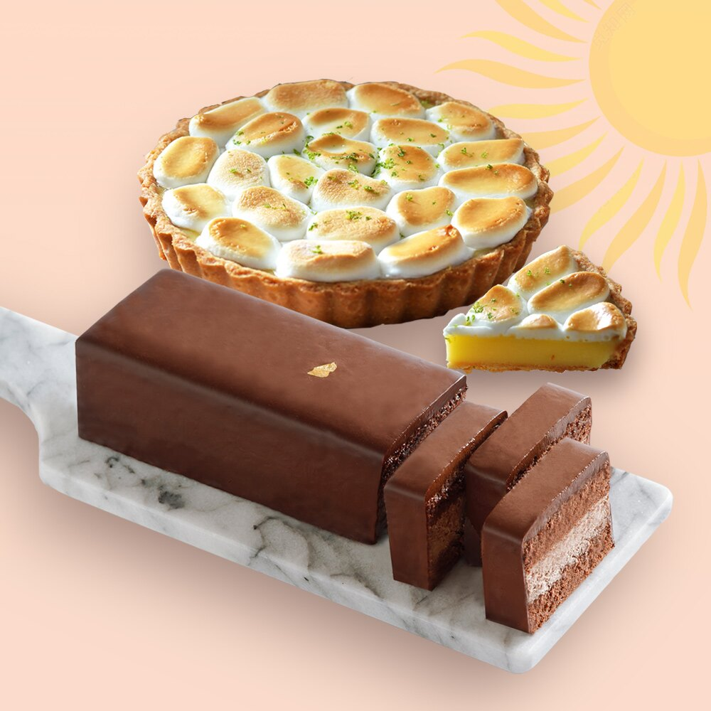 【Super sale整點特賣 8/1-8/9】 限量30組!買一送一再免運【 買南法雲朵檸檬派6吋 送82%比利時巧克力慕斯蛋糕】 美食按個讚推薦 團購 母親節蛋糕 甜點