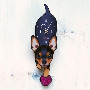 D-109 ミニチュアピンシャー-犬の振り子時計