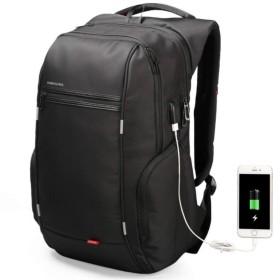【大容量バックパック】新モデル メンズ ビジネスリュック USBポート付 多機能 防水 バッグ (17.3)