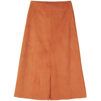 ティティベイト titivate フェイクスエードセンタースリットスカート (オレンジ)