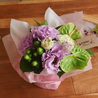 【日比谷花壇】【お供え用】O・SO・NA・E flower「8月のそのまま飾れるブーケ」