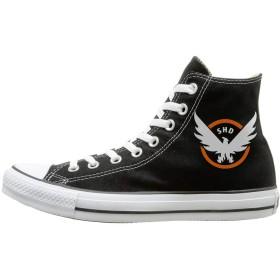 [YISANSI] スニーカー キャンバス ハイカット靴 シューズ ディビジョンゲーム ロゴ カジュアル ストリート メンズ レディース ユニセックス オールシーズン