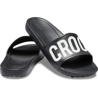【クロックス公式】 クロックス スローン ロゴ マニア スライド ウィメン Women's Crocs Sloane Logo Mania Slide ウィメンズ、レディース、女性用 ブラック/黒 21cm,22cm,23cm,24cm,25cm slide スライドサンダル スポーツサンダル シャワーサンダル サンダル
