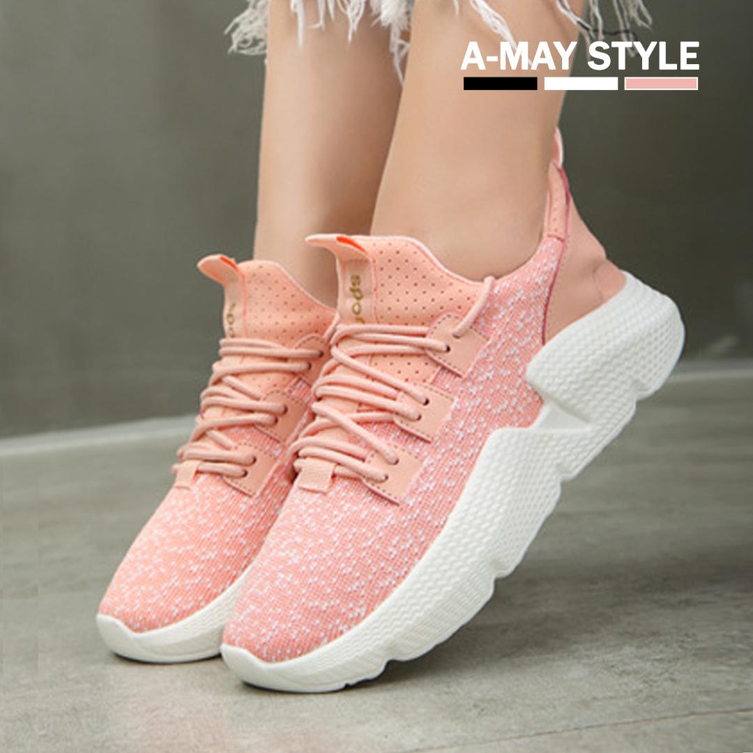 休閒鞋-透氣編織網布厚底鞋【XS880350】*艾美時尚