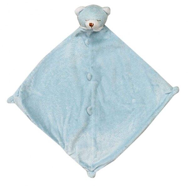 美國Angel Dear 動物嬰兒安撫巾 藍色熊熊