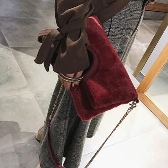 クラッチバッグ - M.Y.A. ファーバッグ エコファー クラッチバッグ ショルダーバッグ ハンドバッグ リングハンドル 3wayバッグ