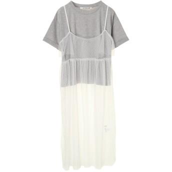 【5,000円以上お買物で送料無料】・RAY CASSIN SET2点キャミワンピ×Tシャツ