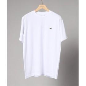 (EDIFICE/エディフィス)LACOSTE/ラコステ ロゴカノコ クルーネック Tシャツ/メンズ ホワイト