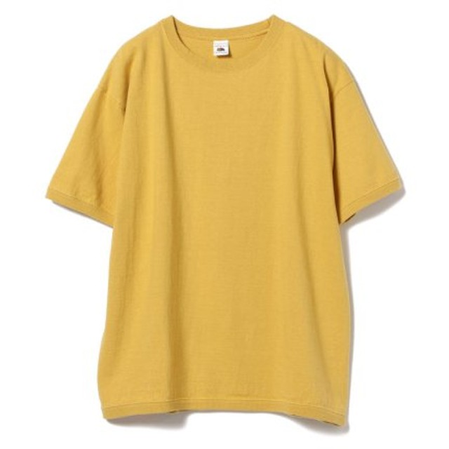 (BEAMS OUTLET/ビームス アウトレット)FRUIT OF THE LOOM × BEAMS/別注 Crew Neck T-shirt/メンズ MUSTARD