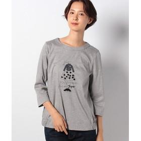 <CARA O CRUZ> ガールモチーフTシャツ ライトグレー 【三越・伊勢丹/公式】