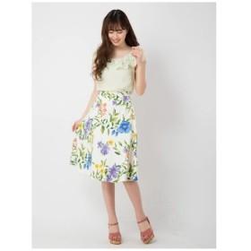 BE RADIANCE(ビー ラディエンス)ボタニカル大花柄フレアスカート