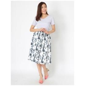 Fabulous Angela(ファビュラスアンジェラ)ウォーターカラー風フラワープリントフレアスカート