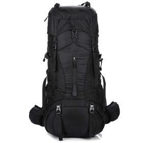 70L + 5L大容量バックパックプロフェッショナル登山バッグアウトドアキャンプバックパック旅行乗馬ハイキングバックパック防滴ネックレスバックパ