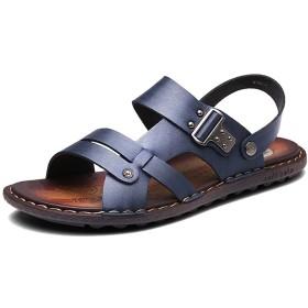 Respeedimeメンズ耐久性のあるスリッパとサンダルレザービーチシューズレジャー夏の快適さの靴