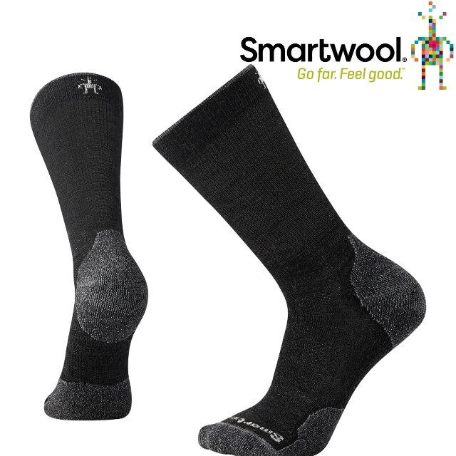 Smartwool 羊毛襪/排汗襪/保暖襪/美麗諾羊毛 PhD戶外輕量減震中高長襪 SW001069 003 炭黑色