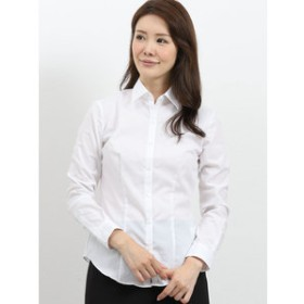 【m.f.editorial:トップス】形態安定レギュラーカラー ブロード長袖シャツ