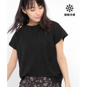 (LAKOLE/ラコレ)【接触冷感】コンパクトピケフレンチTシャツ/ [.st](ドットエスティ)公式