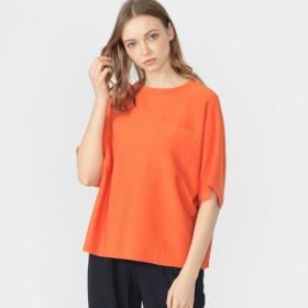 【マッキントッシュ ロンドン ウィメン(MACKINTOSH LONDON WOMEN)】 ◆◆16GニットポケットTシャツ オレンジ