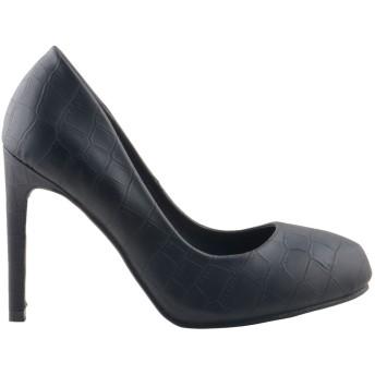 パンプス - 靴のSOKUSOKO パンプス 厚底 結婚式 パンプス 痛くない 脱げない ピンヒール ハイヒール 黒 ヒール10cm 10センチ ヒール ブラックストームラウンドトゥ ドレス パーティ 靴 スエード レオパード パイソン 『sk-17207』
