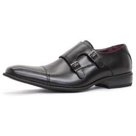 【ZINC/ジンク】日本製ビジネスシューズ 紳士靴 ロングノーズ (28.0cm, ブラック)