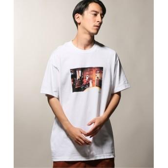 JOURNAL STANDARD relume BROW/ブロウ HUGH HEFNER WHITE S/S Tシャツ ホワイト L