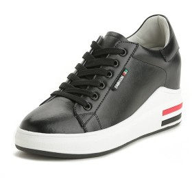 [サニーサニー] インヒールスニーカー レディース 厚底 レースアップ シークレットシューズ 歩きやすい カジュアル 快適 プラットフォーム 通学 フラット ハイカット 通気性 通勤 柔らかい 身長アップ 美脚 運動靴 革靴
