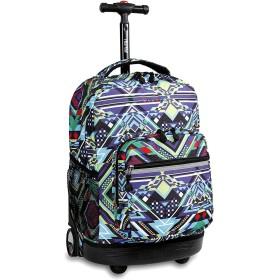 [(Jワールドニューヨーク) J World New York ] [J World New York 学生のバックパック Boys` Sunrise Rolling Backpack] (並行輸入品)