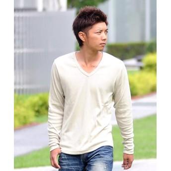 (SPADE/スペイド)Tシャツ ティーシャツ メンズ 長袖 ロングTシャツ ロンT インナー カットソー おしゃれ 黒 白 ホワイト 無地 プレーン/メンズ ベージュ