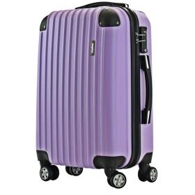 スーツケース 超軽量 TSAロック搭載 ABS樹脂 4輪 ファスナータイプ 機内持込から (パープル, M サイズ)